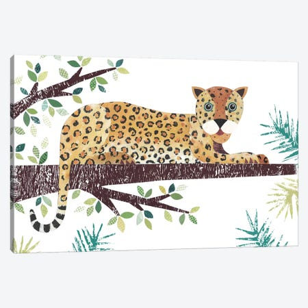Leopard Canvas Print #SIH103} by Simon Hart Art Print