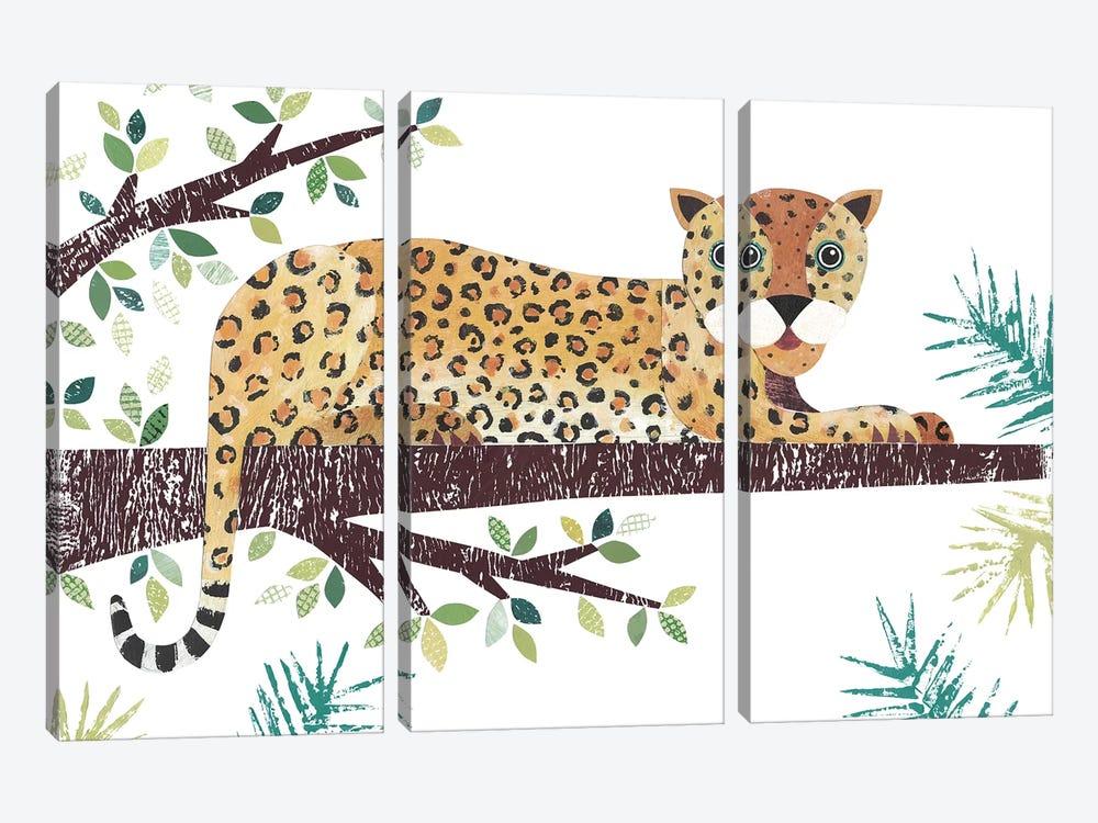 Leopard by Simon Hart 3-piece Canvas Print