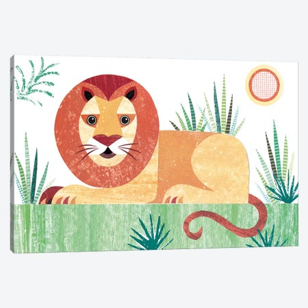Lion Canvas Print #SIH104} by Simon Hart Canvas Wall Art