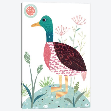 Mallard Duck Canvas Print #SIH107} by Simon Hart Canvas Wall Art