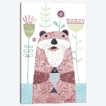 Otter Canvas Print #SIH112} by Simon Hart Canvas Art