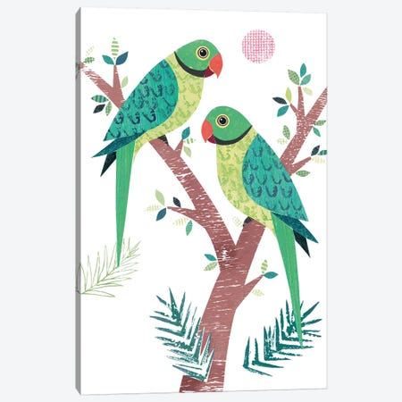 Parakeets Canvas Print #SIH113} by Simon Hart Canvas Wall Art
