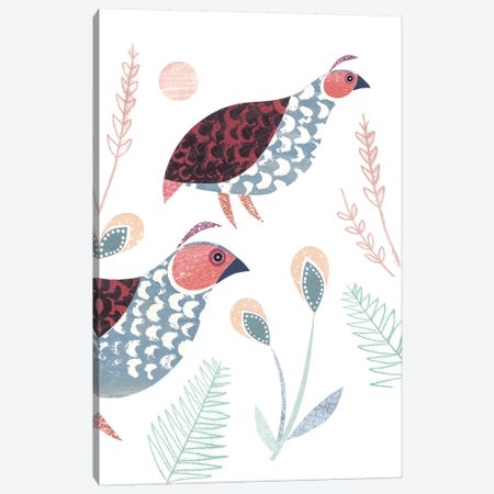 Partridge Canvas Print #SIH114} by Simon Hart Art Print