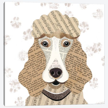 Poodle Canvas Print #SIH118} by Simon Hart Canvas Artwork