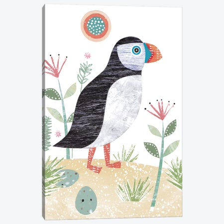 Puffin Canvas Print #SIH119} by Simon Hart Canvas Art