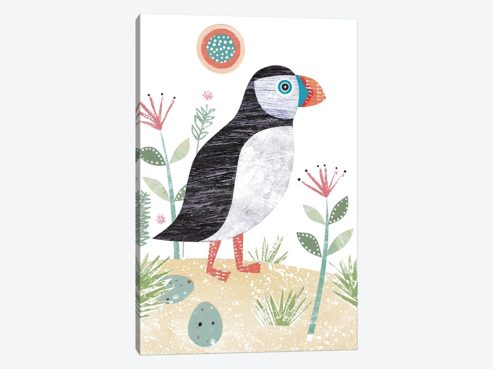 Puffin by Simon Hart 1-piece Canvas Wall Art