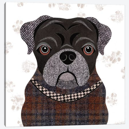 Pug Canvas Print #SIH120} by Simon Hart Canvas Art Print