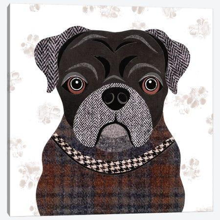 Pug Canvas Print #SIH120} by Simon Hart Canvas Art Print