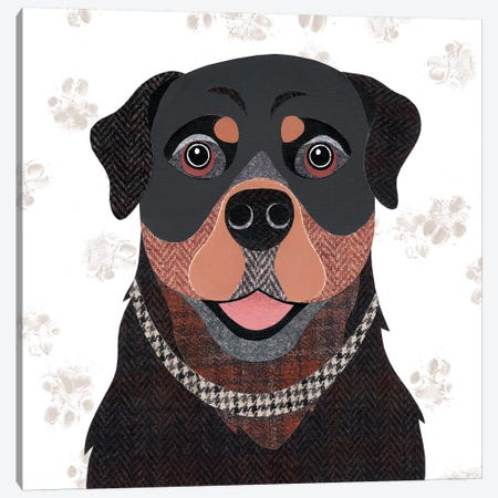Rottweiler Canvas Print #SIH123} by Simon Hart Canvas Print