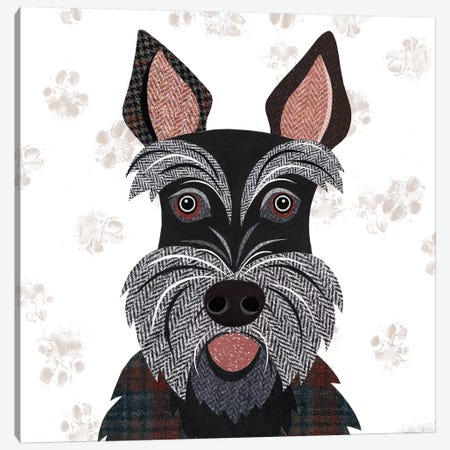 Scottie Canvas Print #SIH125} by Simon Hart Canvas Wall Art