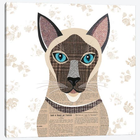Siamese Canvas Print #SIH129} by Simon Hart Canvas Art Print