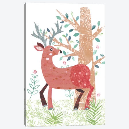 Stag Canvas Print #SIH134} by Simon Hart Art Print
