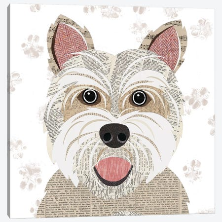 Westie Canvas Print #SIH137} by Simon Hart Canvas Print