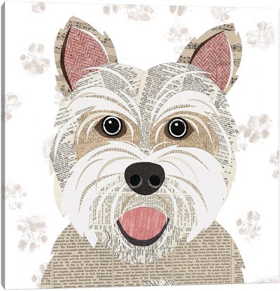 Westie Canvas Art Print