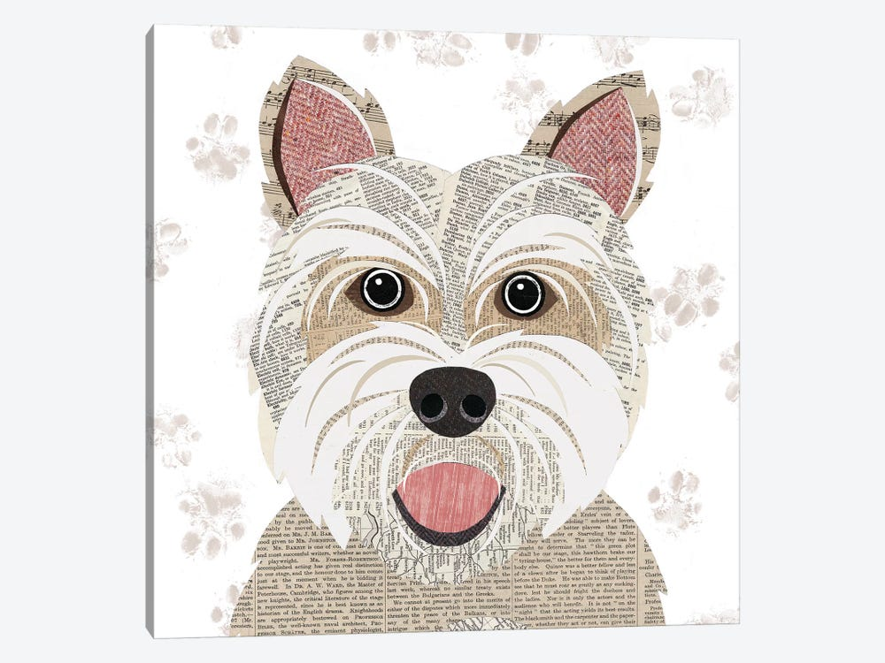 Westie by Simon Hart 1-piece Canvas Art