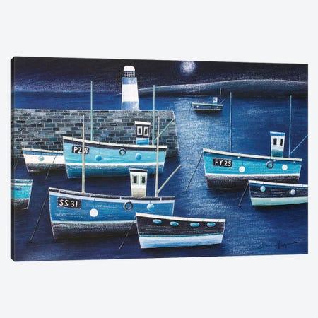 Moonlight On St Ives Canvas Print #SIH17} by Simon Hart Canvas Art Print