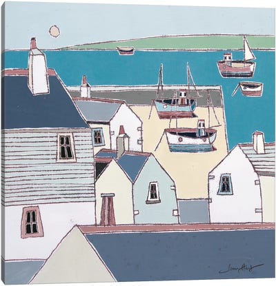 Rooftops, St Ives Canvas Art Print