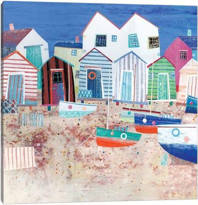 Beach Huts Canvas Art Print