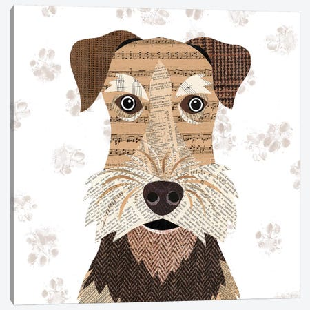 Airedale Canvas Print #SIH31} by Simon Hart Canvas Art