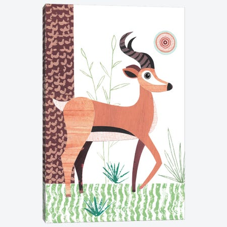 Antelope Canvas Print #SIH32} by Simon Hart Canvas Artwork