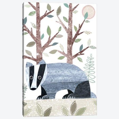 Badger Canvas Print #SIH33} by Simon Hart Canvas Art