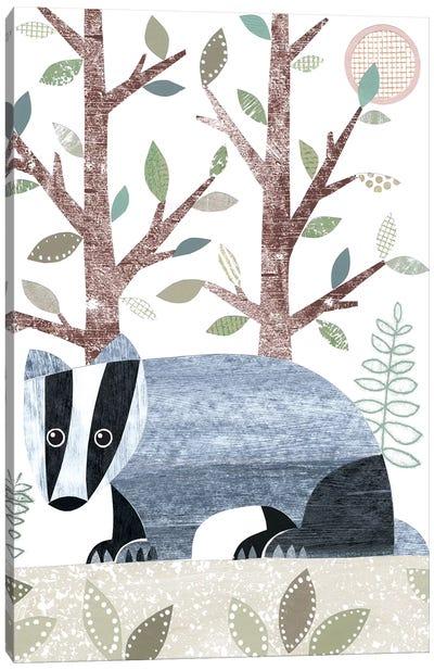 Badger Canvas Art Print