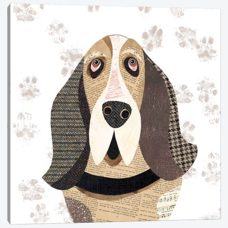 Basset Hound Canvas Print #SIH34} by Simon Hart Canvas Art Print