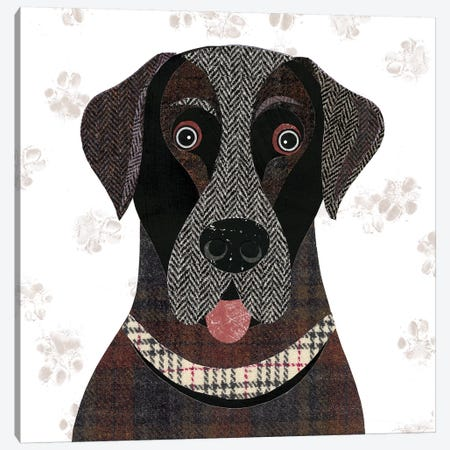 Black Lab Canvas Print #SIH39} by Simon Hart Canvas Wall Art