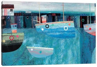 Blue Trawler Canvas Art Print