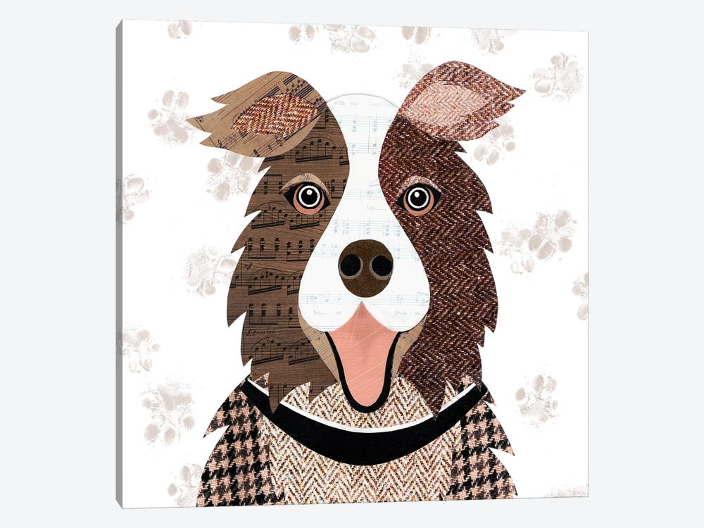 Brown Collie by Simon Hart 1-piece Art Print