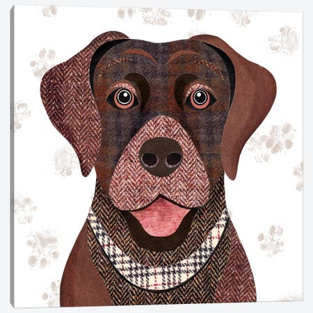 Brown Labrador Canvas Print #SIH46} by Simon Hart Canvas Wall Art