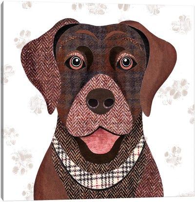 Brown Labrador Canvas Art Print