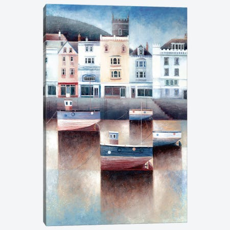 The Boatfloat Canvas Print #SIH4} by Simon Hart Canvas Artwork