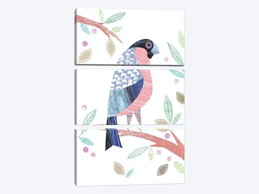 Bullfinch by Simon Hart 3-piece Canvas Print