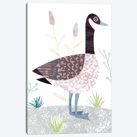 Canada Goose Canvas Print #SIH52} by Simon Hart Canvas Wall Art