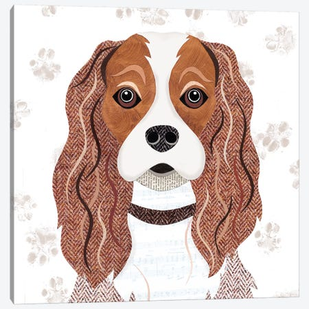 Cavalier King Charles Canvas Print #SIH53} by Simon Hart Canvas Artwork