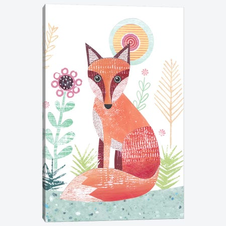 Large Fox Canvas Print #SIH57} by Simon Hart Canvas Art Print