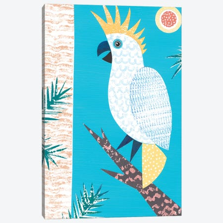 Cockatoo Canvas Print #SIH59} by Simon Hart Canvas Wall Art