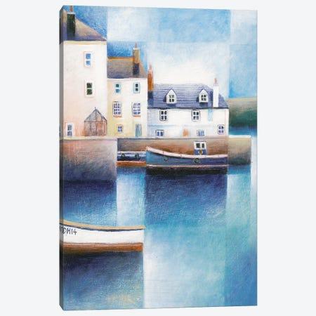 Moored Boats Canvas Print #SIH5} by Simon Hart Canvas Artwork