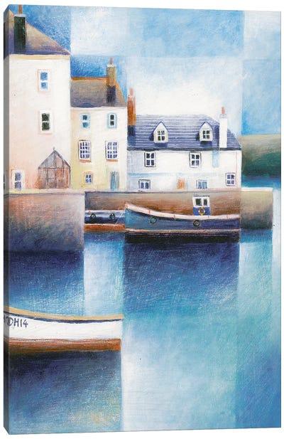 Moored Boats Canvas Art Print