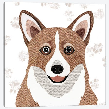 Corgi Canvas Print #SIH62} by Simon Hart Art Print