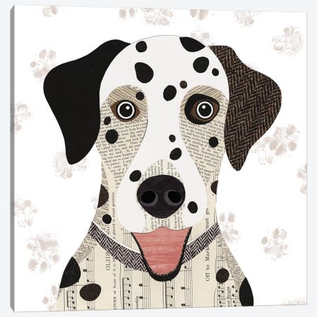 Dalmatian Canvas Print #SIH66} by Simon Hart Canvas Art