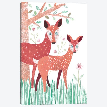 Deer Canvas Print #SIH68} by Simon Hart Canvas Print