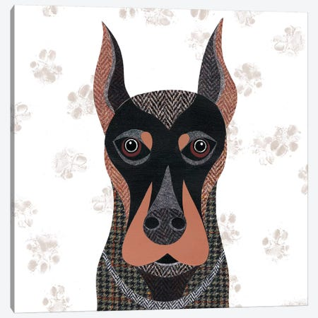 Dobermann Canvas Print #SIH69} by Simon Hart Canvas Print