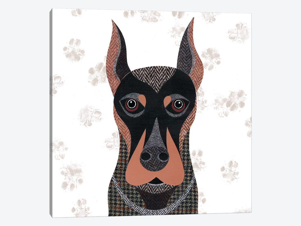Dobermann by Simon Hart 1-piece Canvas Print