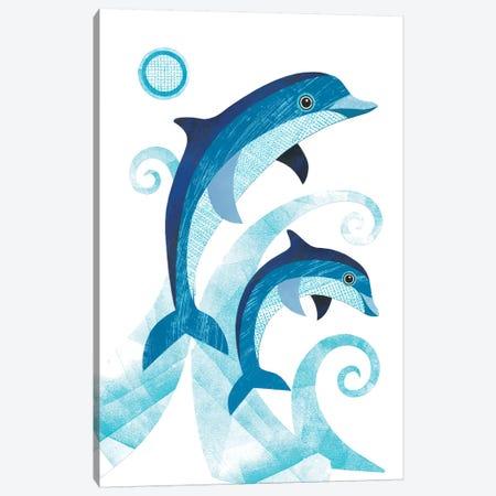 Dolphins Canvas Print #SIH70} by Simon Hart Canvas Artwork