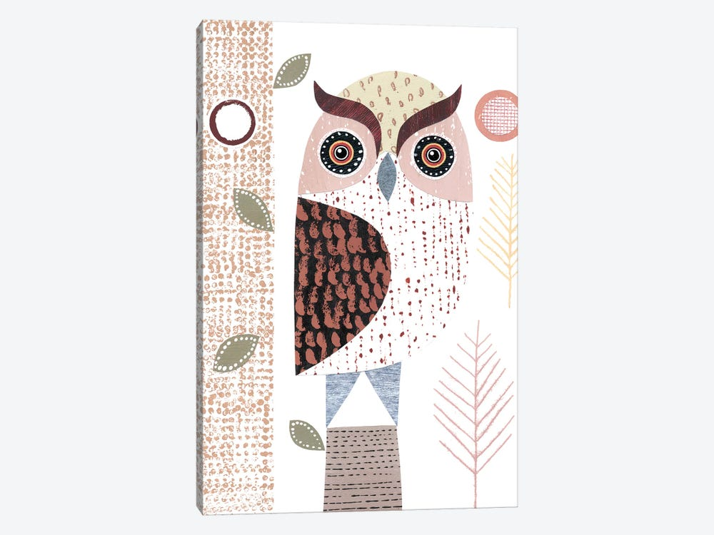 Eagle Owl by Simon Hart 1-piece Canvas Artwork