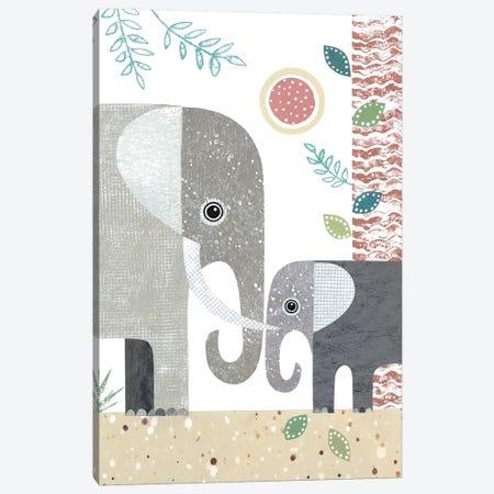 Elephants Canvas Print #SIH72} by Simon Hart Canvas Art