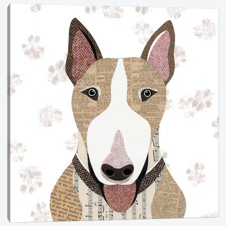 English Bull Terrier Canvas Print #SIH74} by Simon Hart Canvas Art Print
