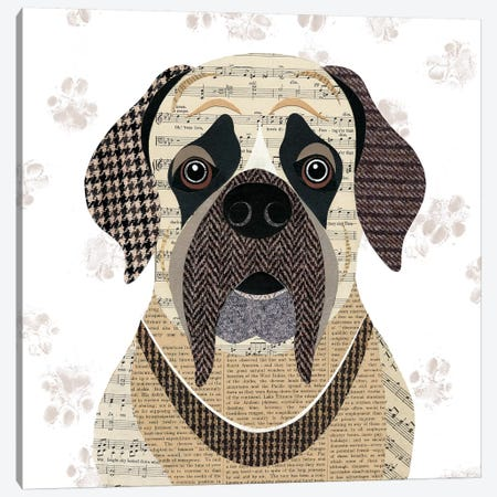 English Mastiff Canvas Print #SIH75} by Simon Hart Canvas Art Print